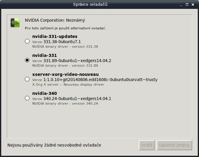 Instalace a použití ovladače Nvidia Optimus v Linux Mintu