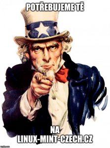 Potřebujeme tě na Linux-Mint-Czech.cz